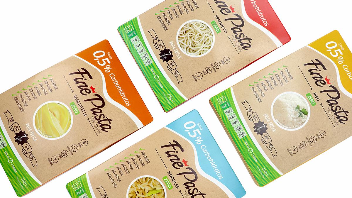 Variedades de Pasta Konjac Fine Pasta