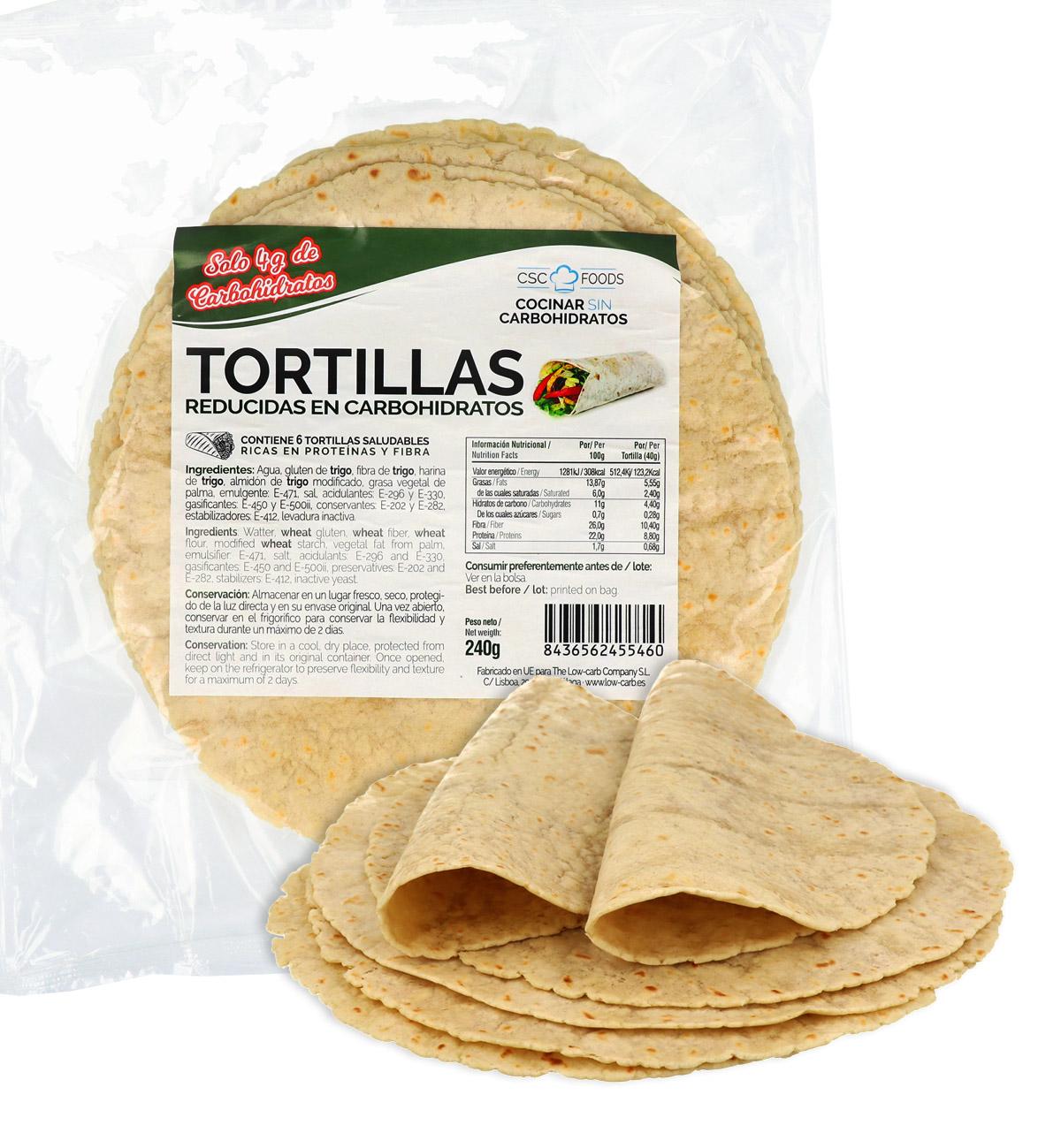 Tortillas Reducida en Carbohidratos